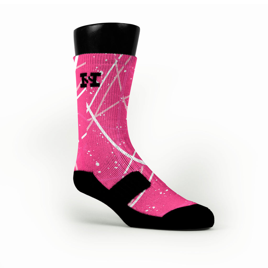 Breast Cancer Stix Custom HoopSwagg Socks