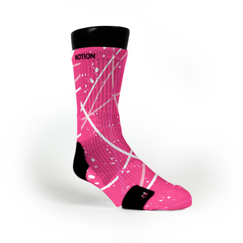 Breast Cancer Stix Custom Notion Socks