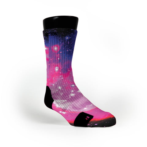 Bubblegum Galaxy Custom Notion Socks