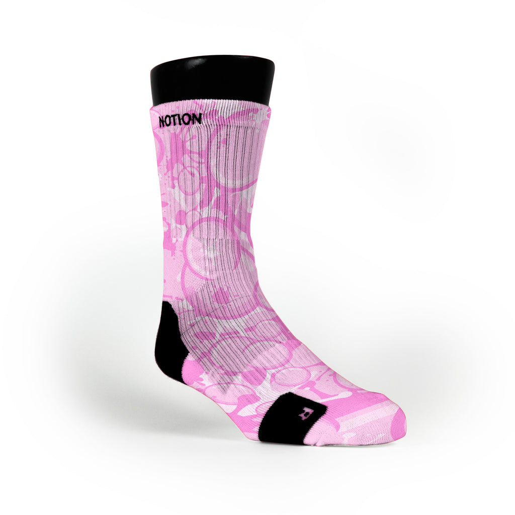 Bubblegum Custom Notion Socks