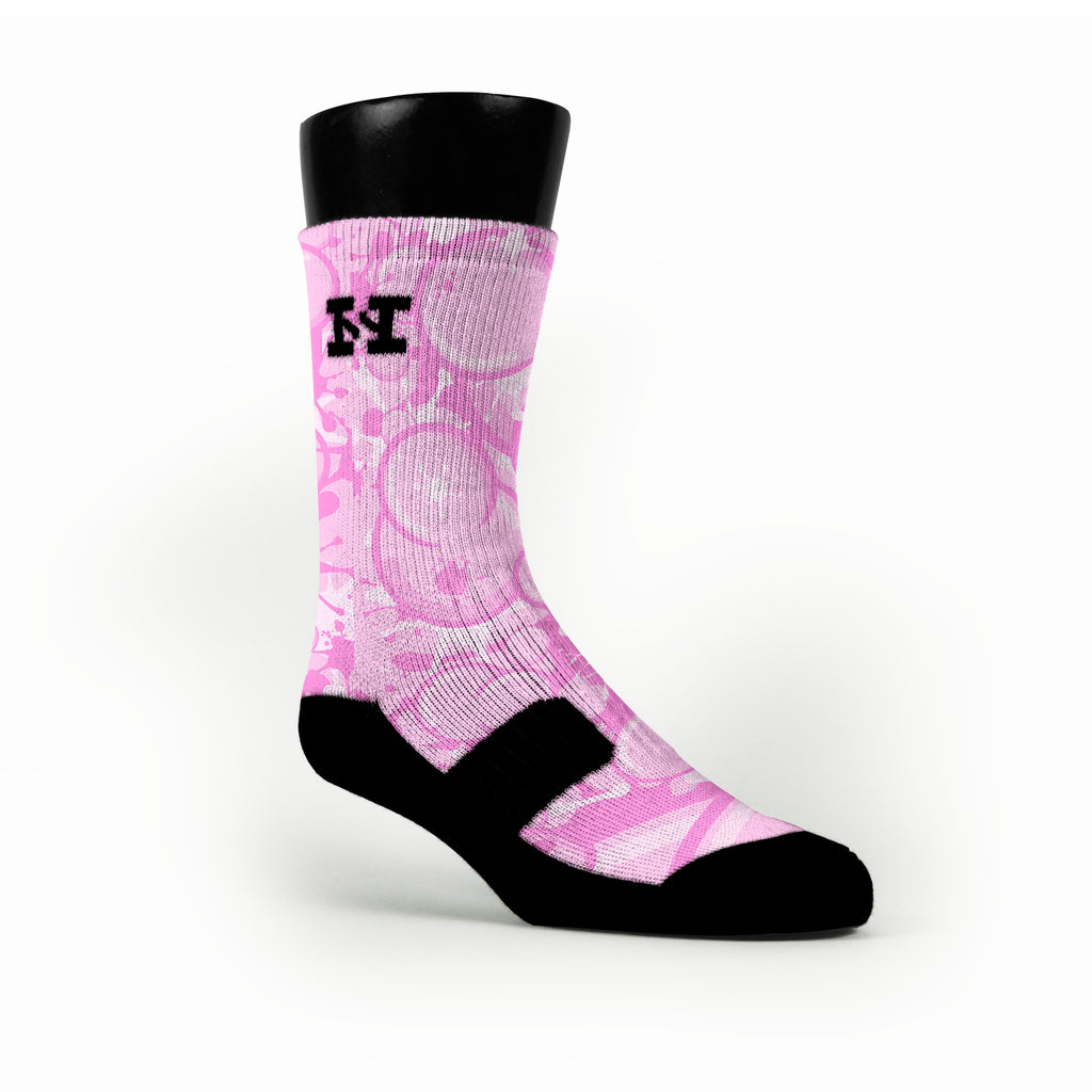 Bubblegum Custom HoopSwagg Socks