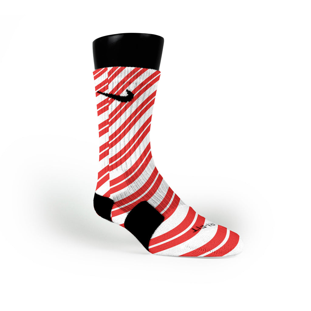 Candy Cane Custom Nike Elite Socks