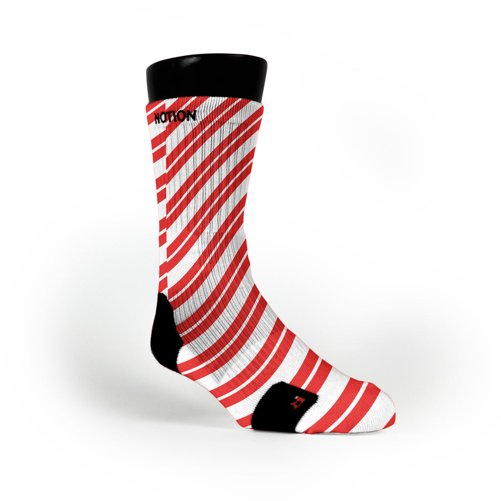 Candy Cane Custom Notion Socks