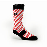 Candy Cane Custom HoopSwagg Socks