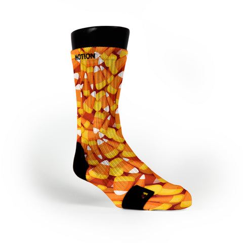 Candy Corn Custom Notion Socks