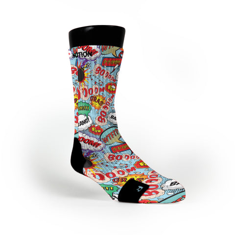 Cartoon Bubbles Custom Notion Socks