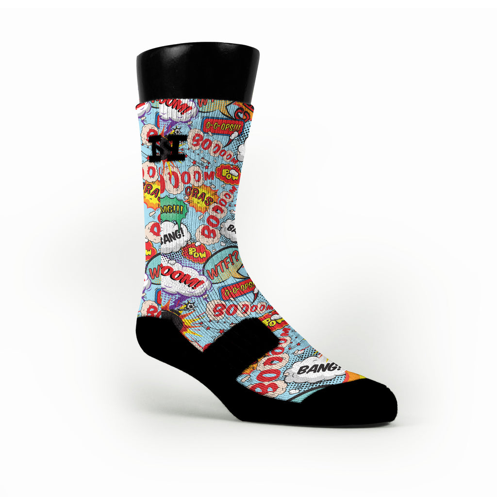 Cartoon Bubbles Custom HoopSwagg Socks