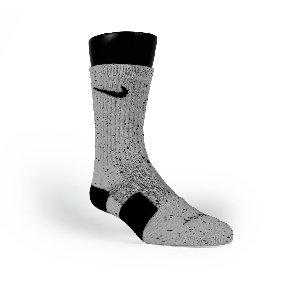 Cement Custom Nike Elite Socks