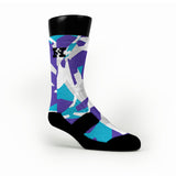 Charlotte Hardwood Camo Custom HoopSwagg Socks