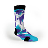 Charlotte Hardwood Camo Custom Notion Socks