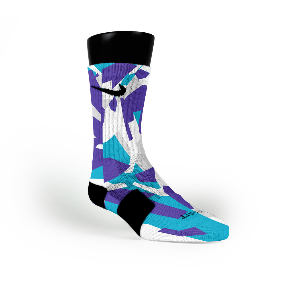 Charlotte Hardwood Camo Custom Nike Elite Socks
