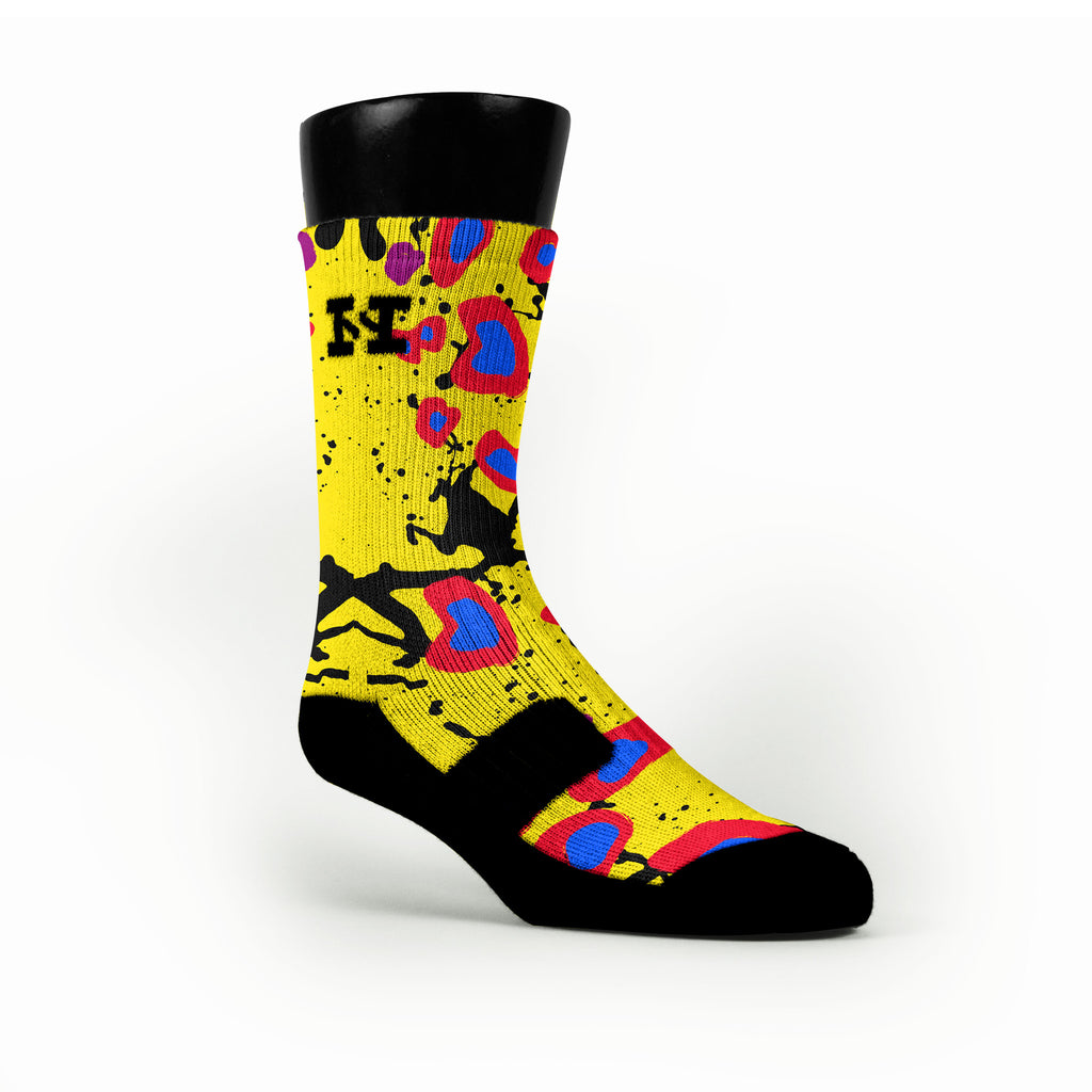 Cheetah Splats Custom HoopSwagg Socks