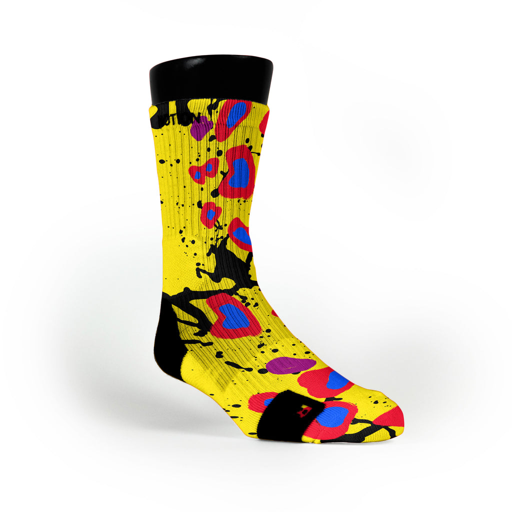 Cheetah Splats Custom Notion Socks