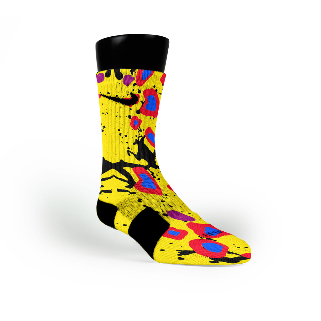Cheetah Splats Custom Nike Elite Socks