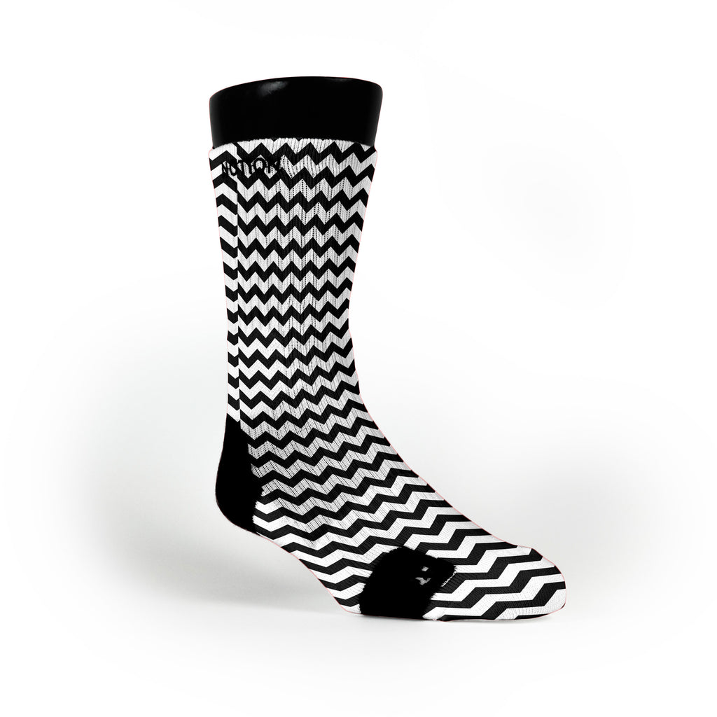 Chevron Black Custom Notion Socks