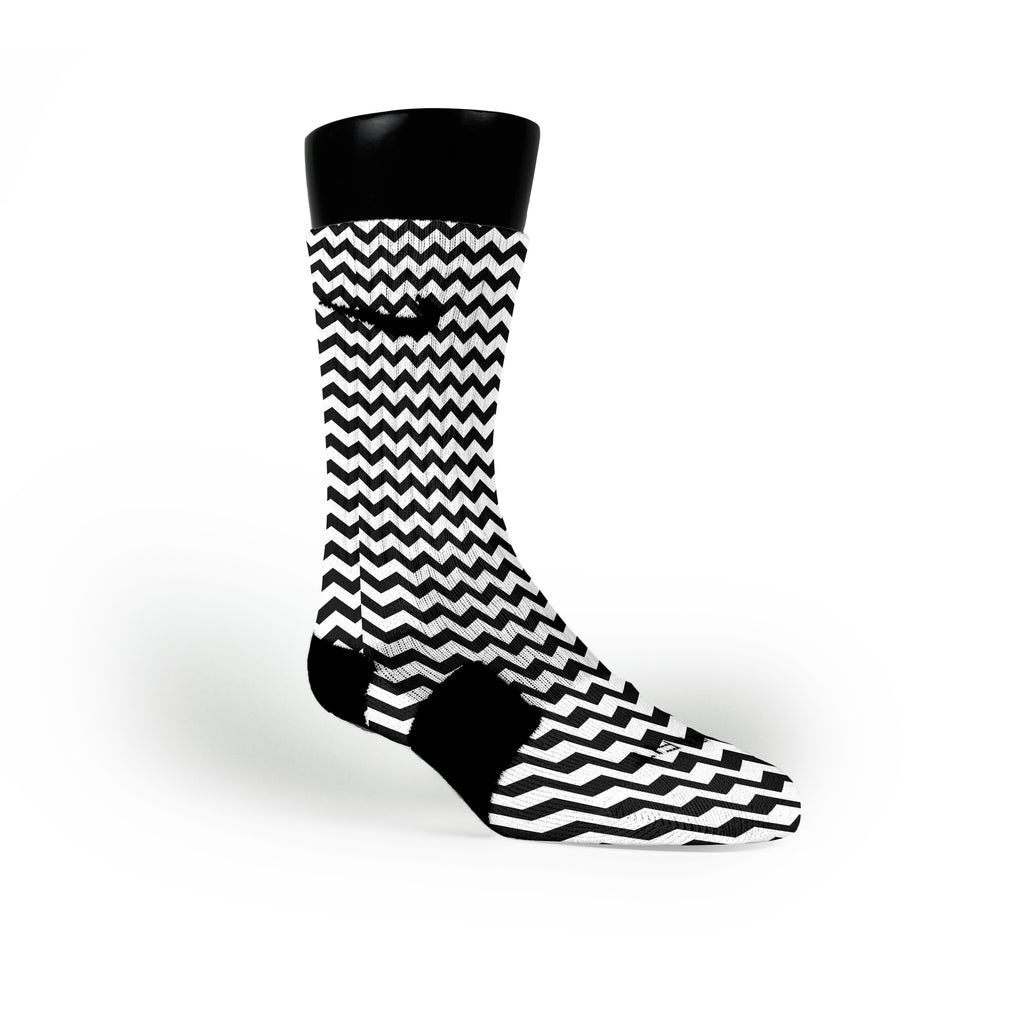Chevron Black Custom Nike Elite Socks