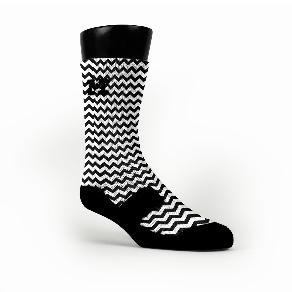 Chevron Black Custom HoopSwagg Socks