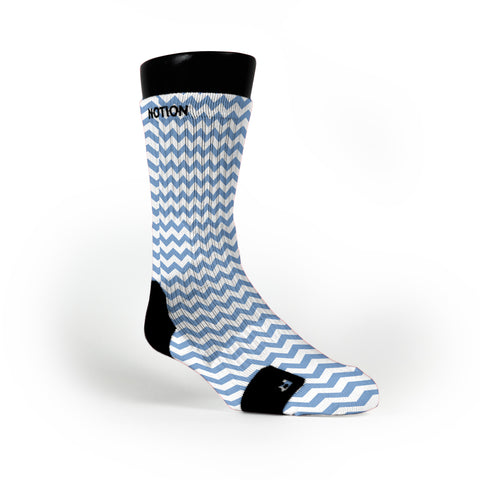 Chevron Blue Custom Notion Socks