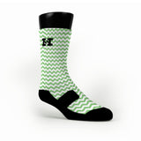 Chevron Green Custom HoopSwagg Socks