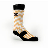 Chevron Orange Custom HoopSwagg Socks