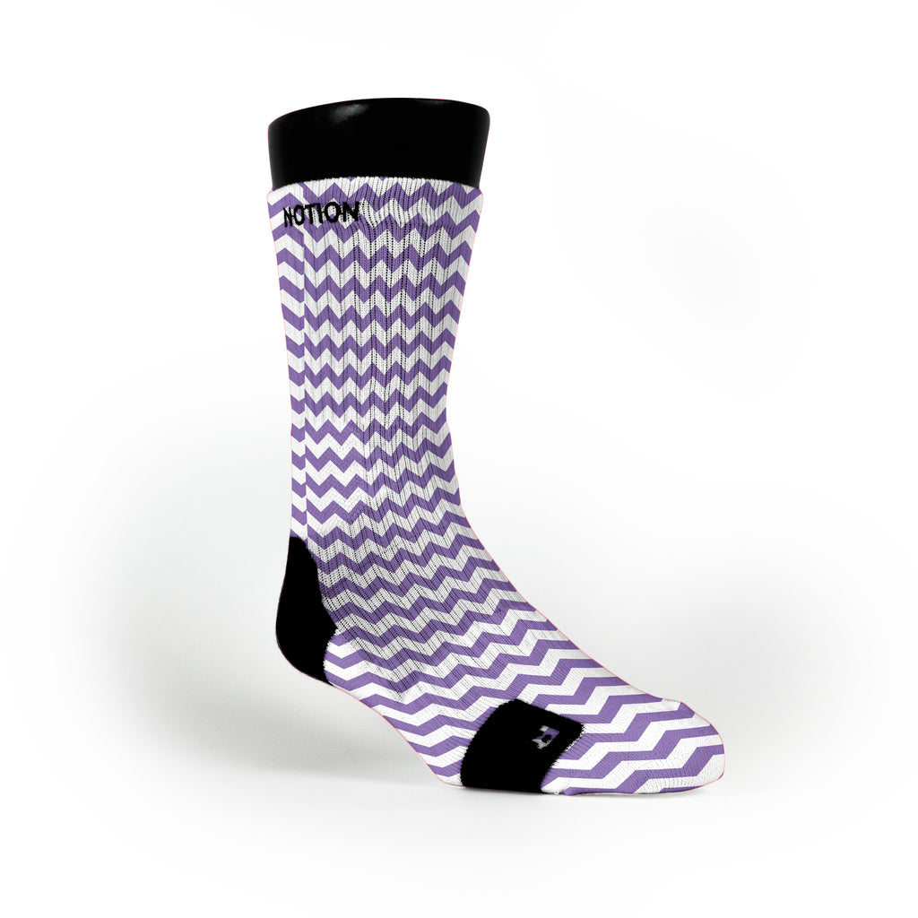 Chevron Purple Custom Notion Socks