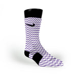 Chevron Purple Custom Nike Elite Socks