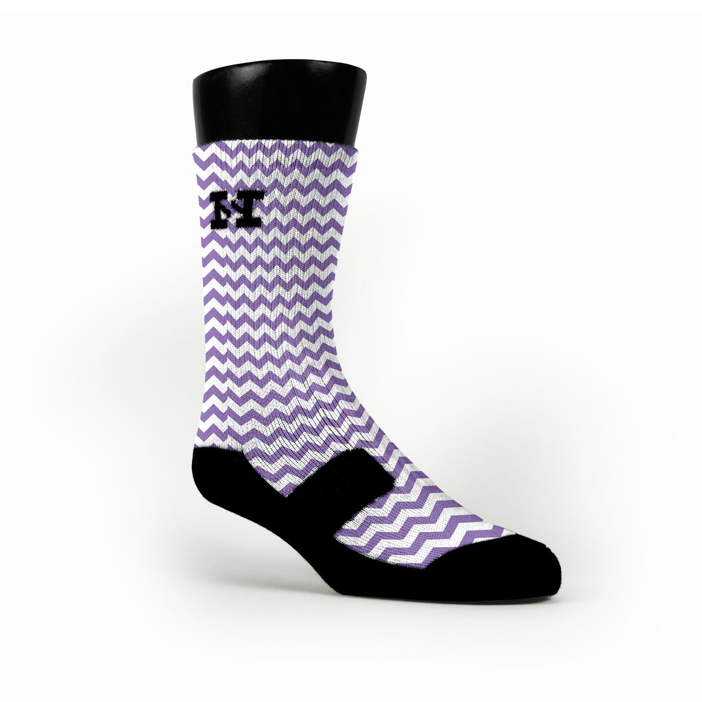 Chevron Purple Custom HoopSwagg Socks