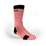 Chevron Red Custom Notion Socks