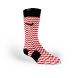 Chevron Red Custom Nike Elite Socks