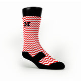 Chevron Red Custom HoopSwagg Socks