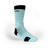 Chevron Turquoise Custom Notion Socks