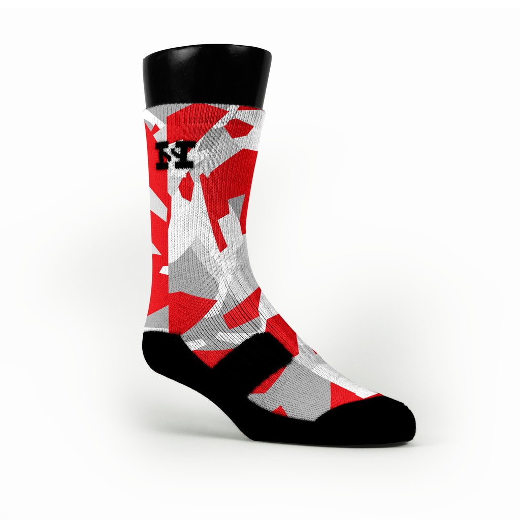 Chicago Hardwood Camo Custom HoopSwagg Socks