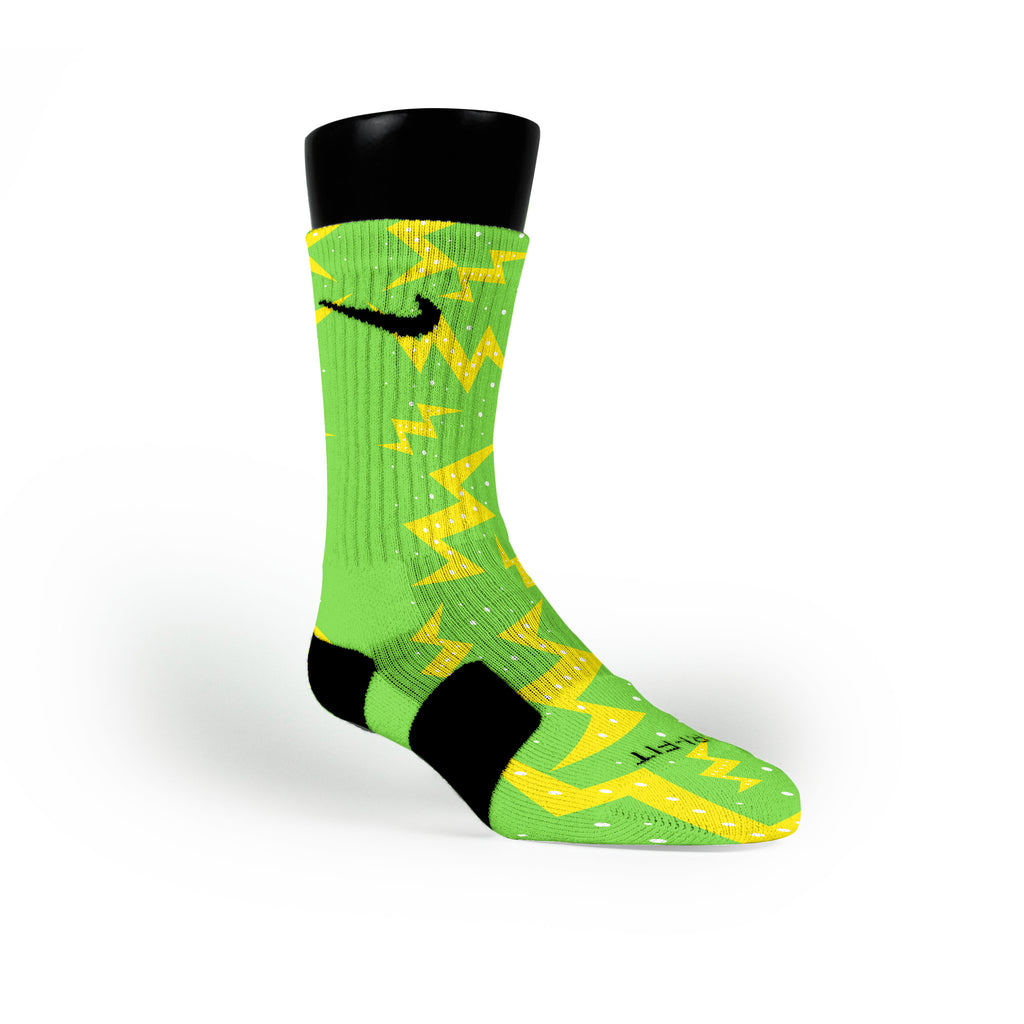Christmas Volts Custom Nike Elite Socks