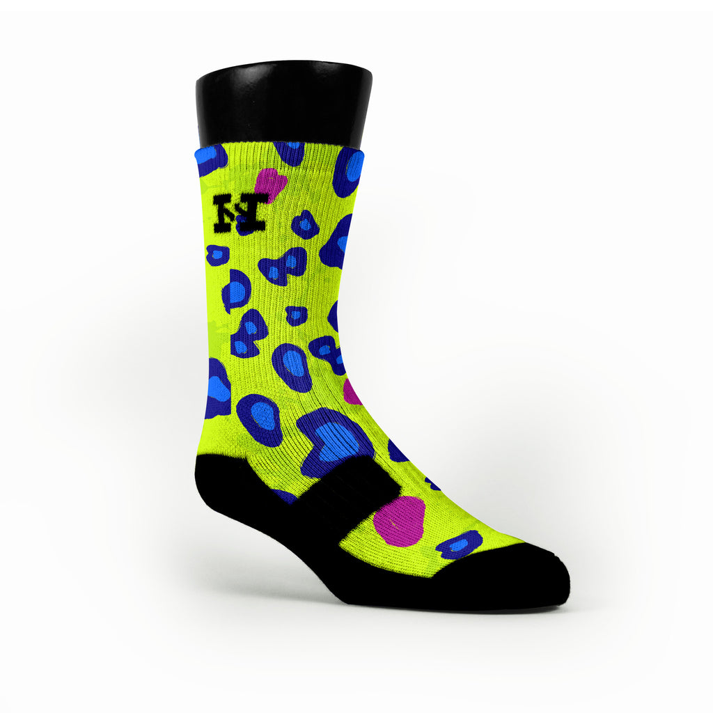 Citrus Cheetah Custom HoopSwagg Socks