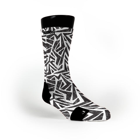 Cookies And Cream Maze Custom Notion Socks