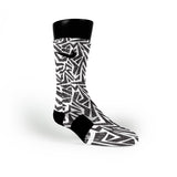 Cookies And Cream Maze Custom Nike Elite Socks
