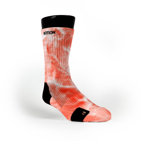 Coral Thunder Custom Notion Socks