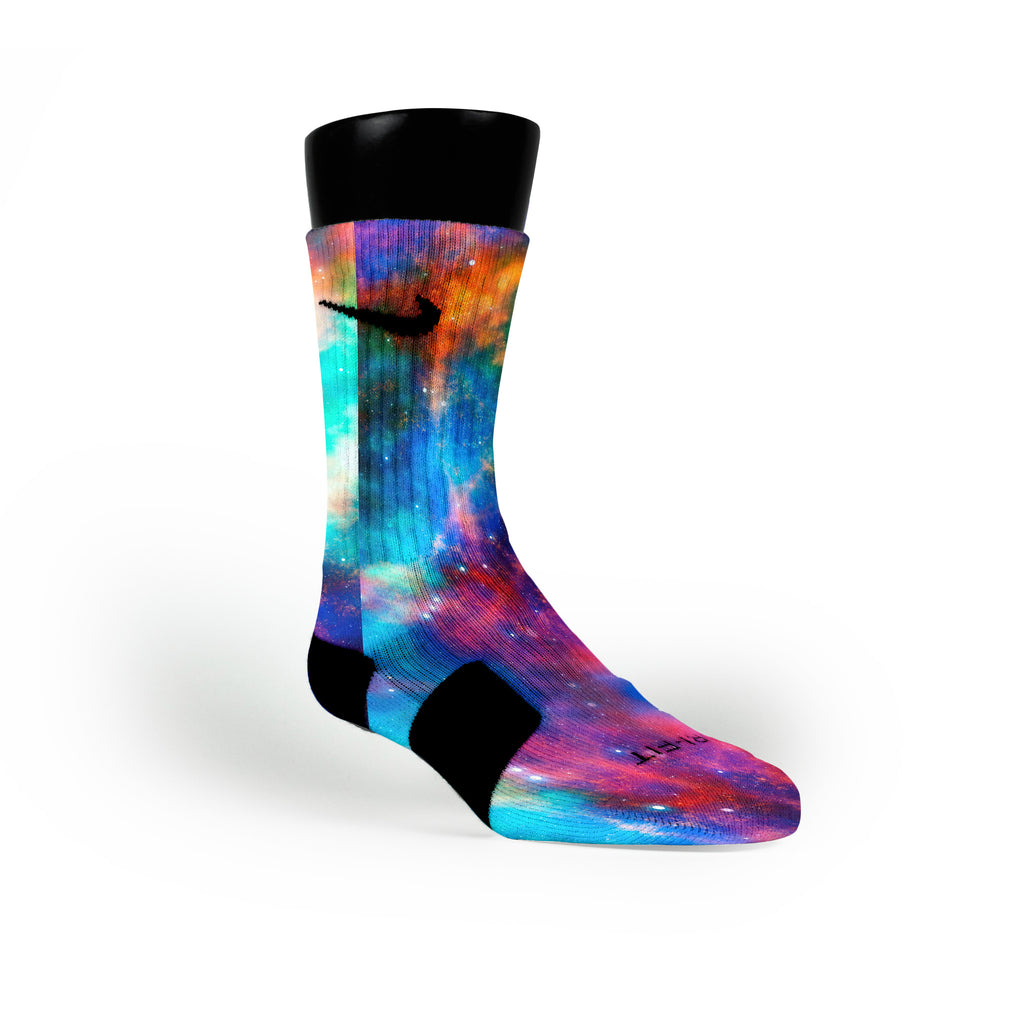 Cosmos Galaxy Custom Nike Elite Socks