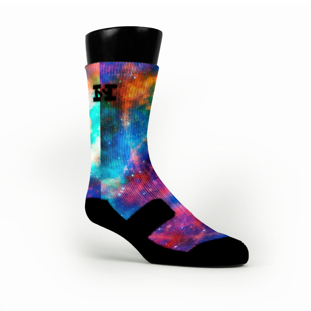Cosmos Galaxy Custom HoopSwagg Socks