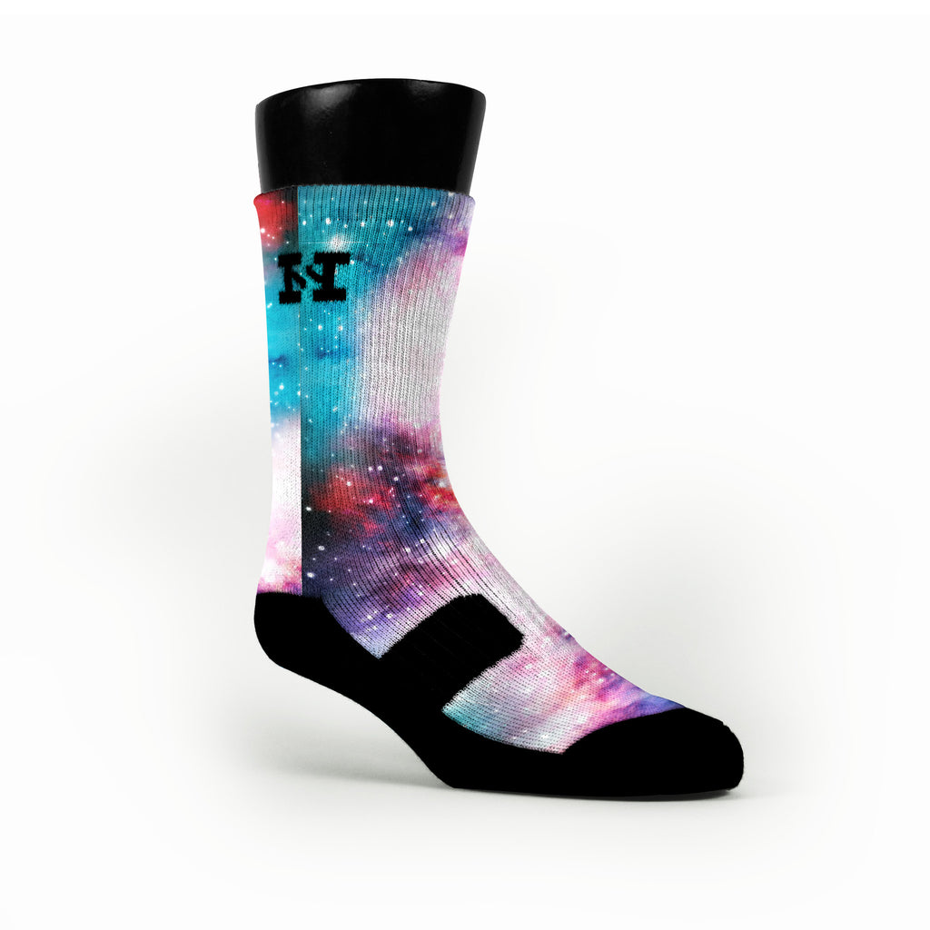 Cotton Candy Galaxy Custom HoopSwagg Socks