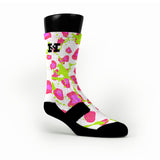 Crazy Pink Cheetah Custom HoopSwagg Socks