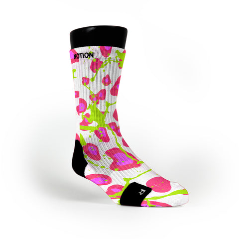 Crazy Pink Cheetah Custom Notion Socks