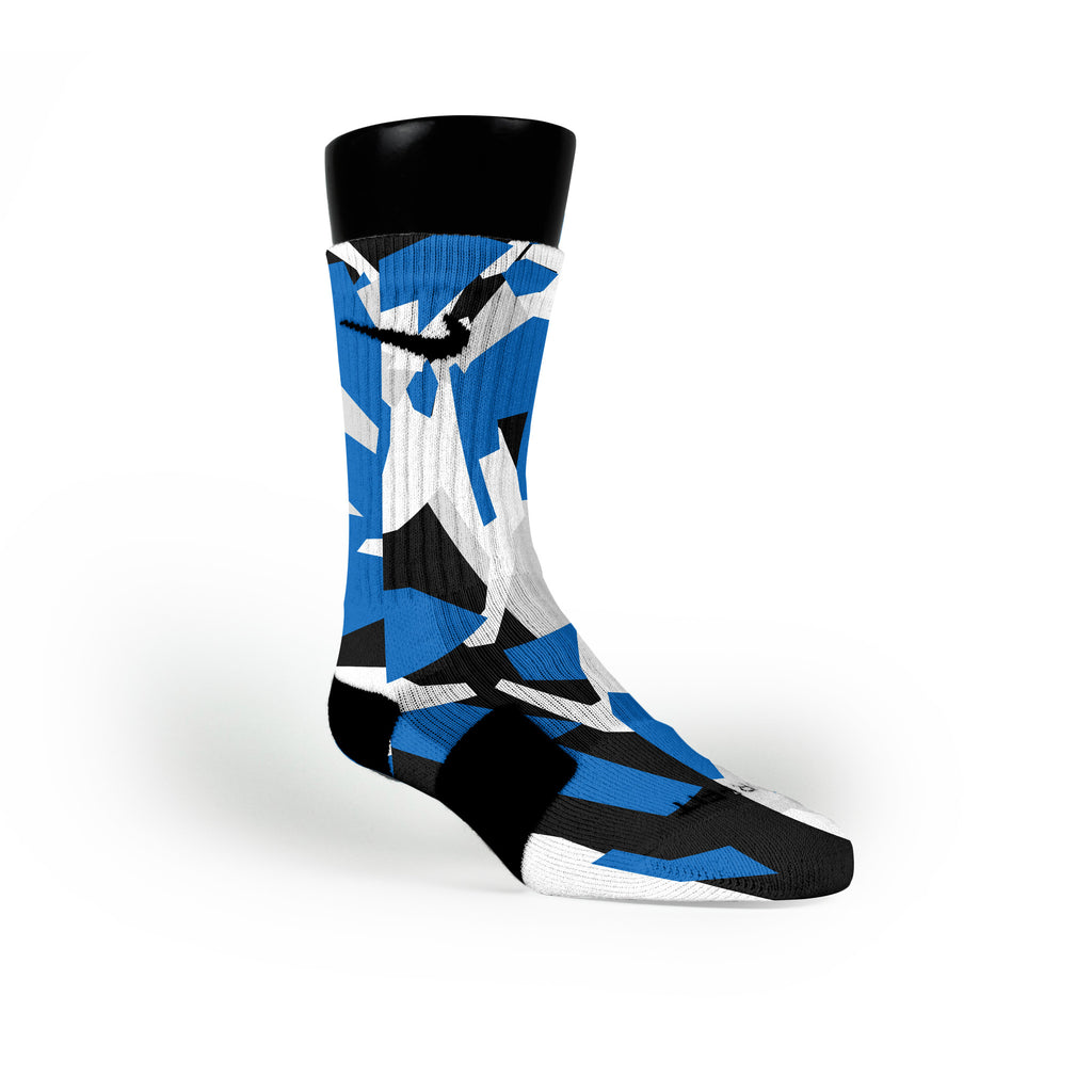 Dallas Hardwood Camo Custom Nike Elite Socks