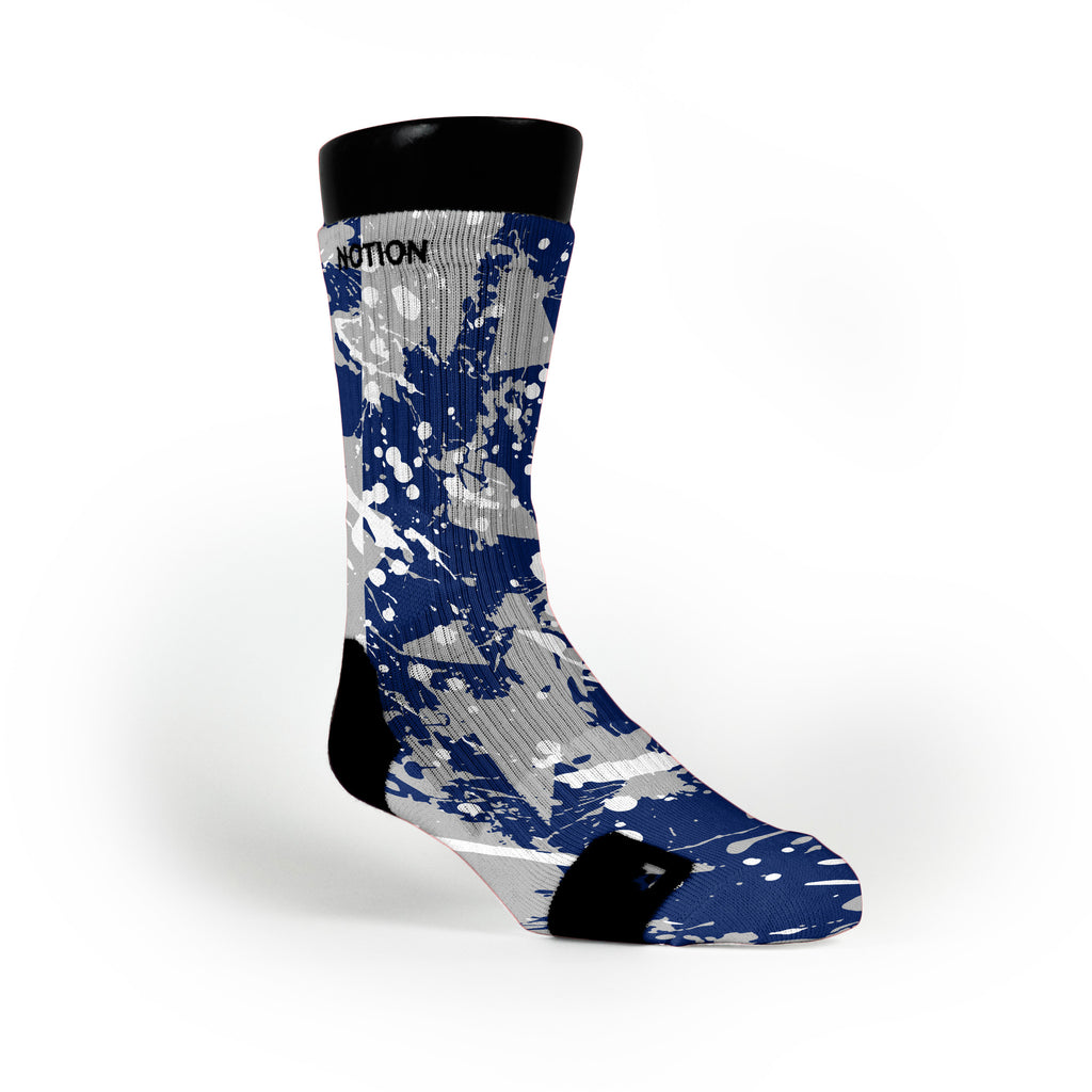 Duke Splatter Custom Notion Socks