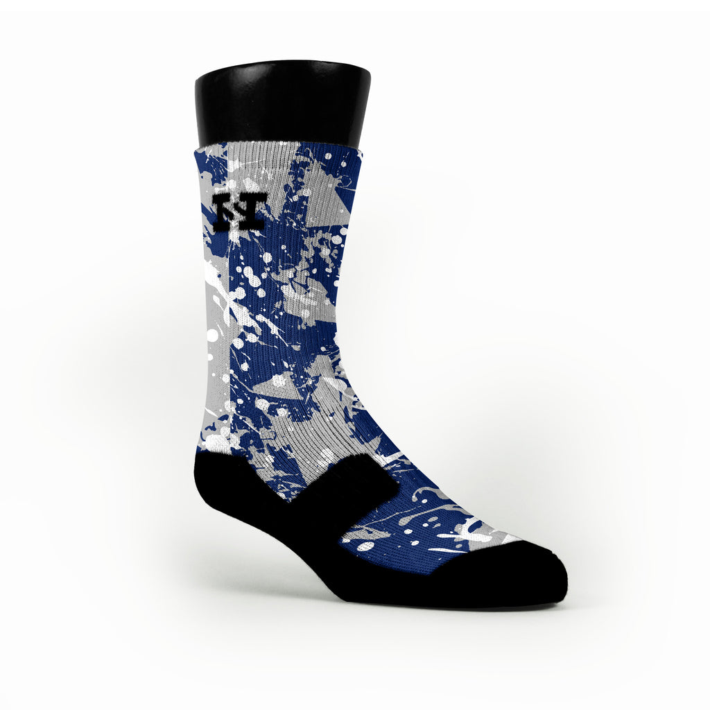 Duke Splatter Custom HoopSwagg Socks