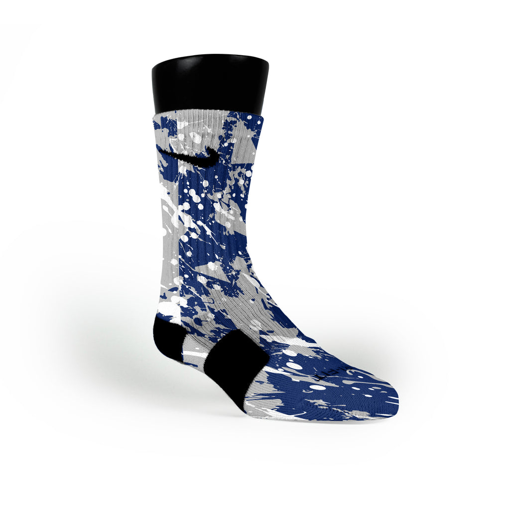 Duke Splatter Custom Nike Elite Socks