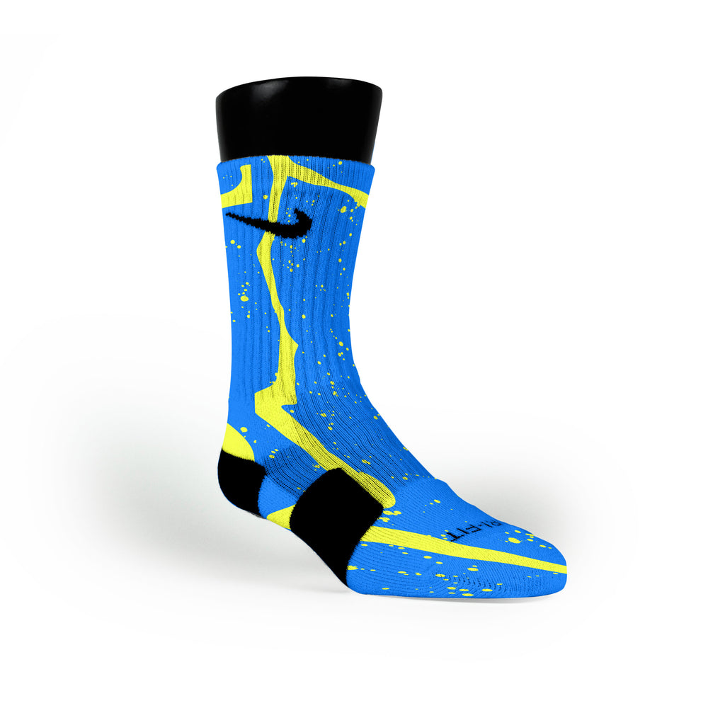 Earthquake Trails Custom Nike Elite Socks