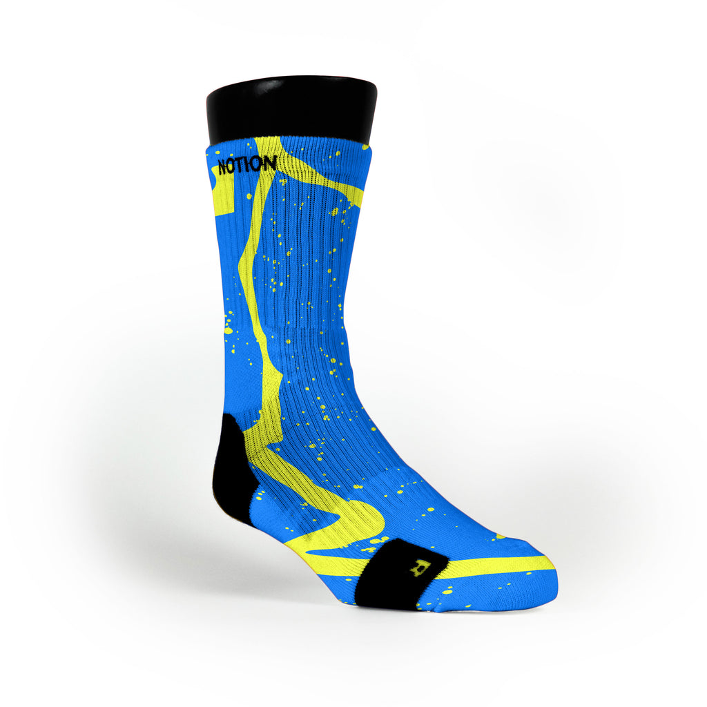 Earthquake Trails Custom Notion Socks