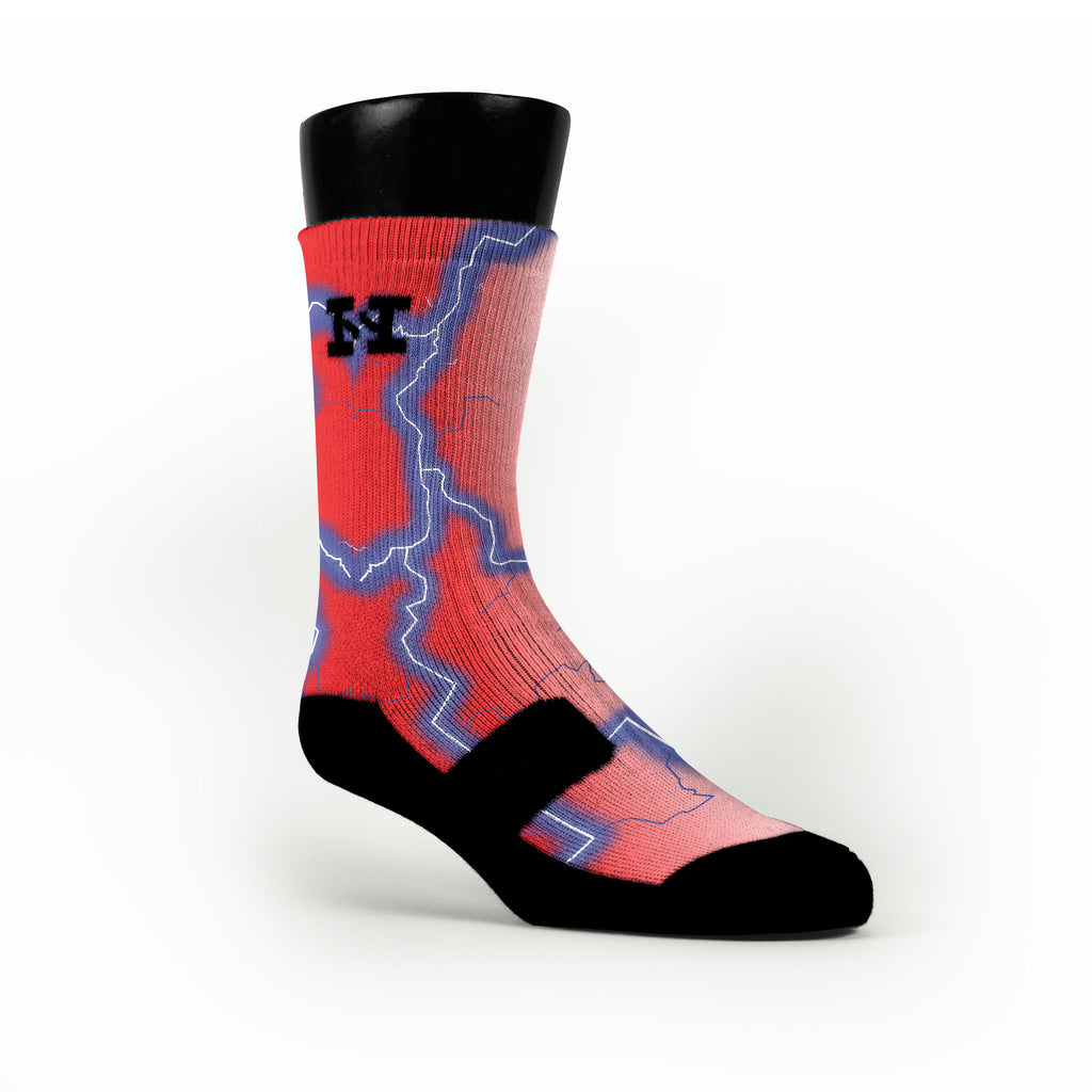 Electric Storm Custom HoopSwagg Socks