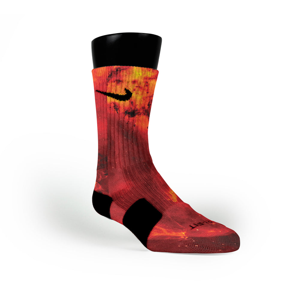Fire Galaxy Custom Nike Elite Socks